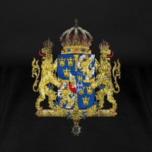 Swedish Coat of Arms Sweden Symbol - Premium-T-shirt dam
