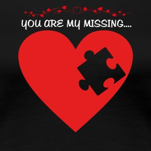 Missing puzzle part 1 white - Women's Premium T-Shirt