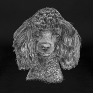 poodle-black-P - Women's Premium T-Shirt
