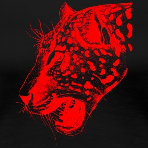 Leopard red, leopard, big cat - Women's Premium T-Shirt