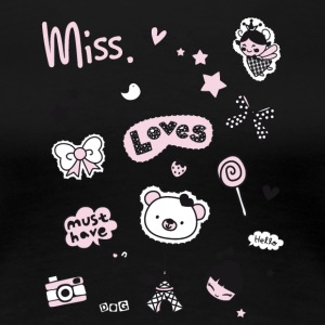 badges_rosa Aufnäher Girl Miss Little Princess her - Frauen Premium T-Shirt