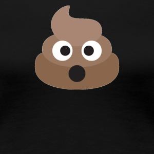 Poo Emoji Face! Retro Design! - Women's Premium T-Shirt