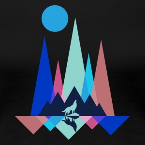 Wolf Mountain Polygon - T-shirt Premium Femme