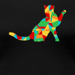 polygon cat - Women's Premium T-Shirt