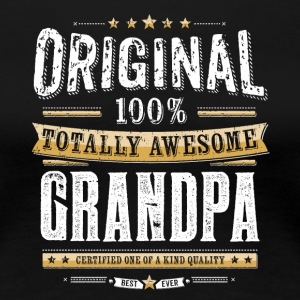 Original 100% Awesome Grandpa - Premium T-skjorte for kvinner