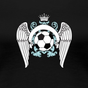 Soccer football goal champion winner engel king king - Women's Premium T-Shirt