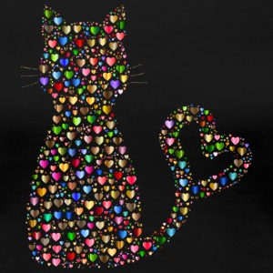 Cat out of the heart - Women's Premium T-Shirt