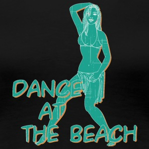 dance at the beach vintage - Women's Premium T-Shirt