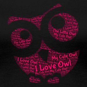 lovely Owl - Premium-T-shirt dam