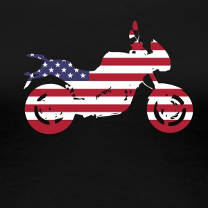bike-usa motorcycle flag proud America travel vacation - Women's Premium T-Shirt