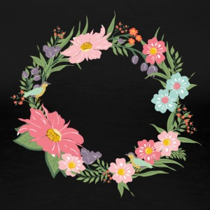 floral wreath - Women's Premium T-Shirt