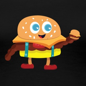 Cute Burger - Women's Premium T-Shirt