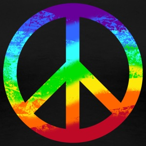 Peace sign Pace Peace Rainbow Grunge colorful - Women's Premium T-Shirt