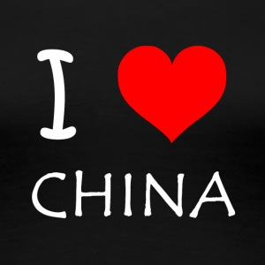 I Love CHINA - Frauen Premium T-Shirt