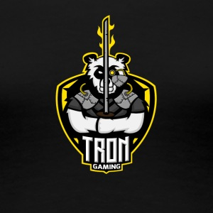 Tron gaming Logo Yellow Transparent - Women's Premium T-Shirt