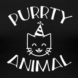 Purrty Animal; - Women's Premium T-Shirt