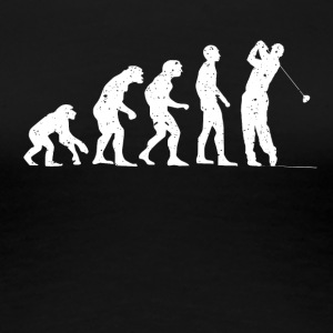 Evolution golf! - Dame premium T-shirt