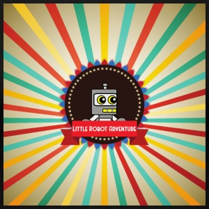 Little Robot Adventure - Robot Retro Logo - Premium-T-shirt dam