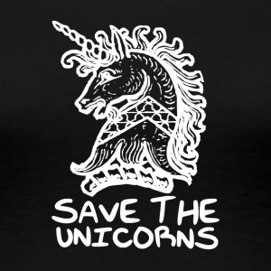 Unicorn - Save the Unicorns - T-shirt Premium Femme