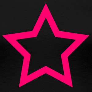 Pink star - Women's Premium T-Shirt