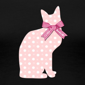 "Pink Cat ""Vibrant Books"" - Women's Premium T-Shirt"