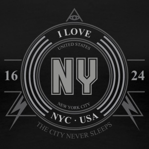 New York Badge - Dame premium T-shirt