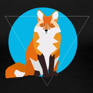 Geometric Fox - Frauen Premium T-Shirt