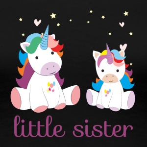 unicorn little sister - Frauen Premium T-Shirt