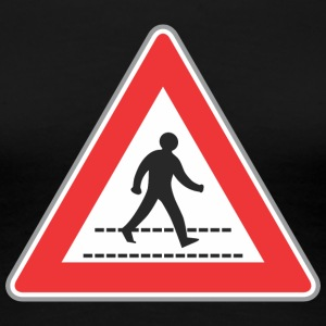 Road sign walking man sign - Women's Premium T-Shirt