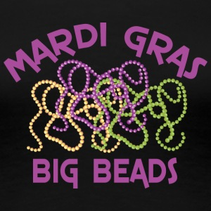Mardi Gras Big Beads - Frauen Premium T-Shirt