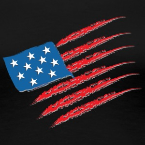 USA Flag - Frauen Premium T-Shirt