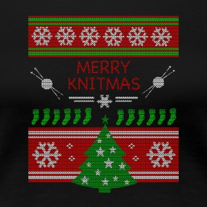 Merry Knitmas - Women's Premium T-Shirt