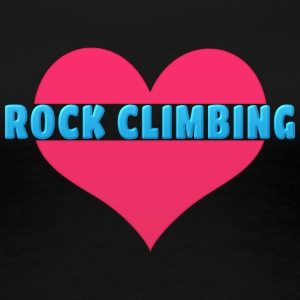 Love Rock Climbing - Women's Premium T-Shirt