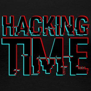 HACKING TIME HACKER - Frauen Premium T-Shirt