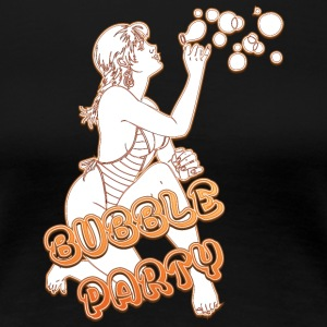 BUBBLE PARTY MIT SEXY GIRL FIRE - Frauen Premium T-Shirt