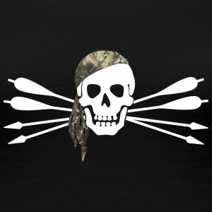 Pirate of archery - Skull and arrows - Women's Premium T-Shirt