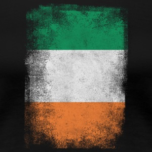 Irland Flag Proud Irish Vintage Distressed - Dame premium T-shirt