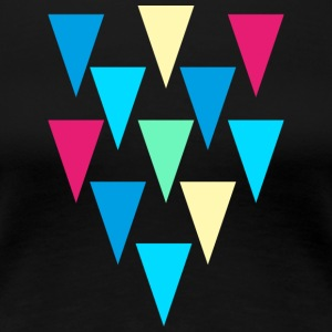 triangles_rain - Dame premium T-shirt