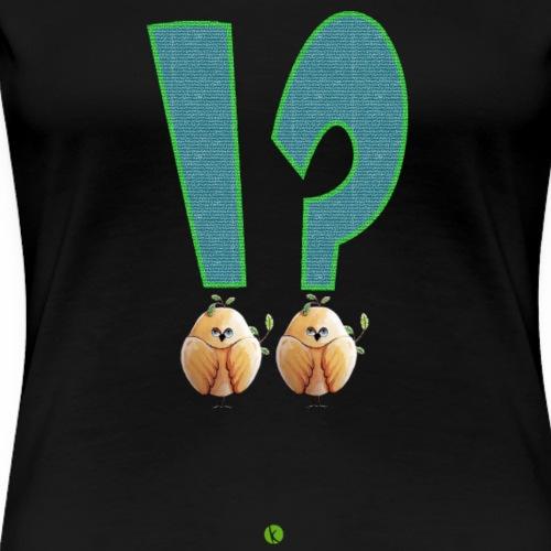 Drôles d'oiseaux points exclamation interrogation - T-shirt Premium Femme