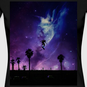 Skate to Space - Premium-T-shirt dam