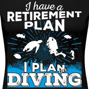 Retirement plan diving (light) - Frauen Premium T-Shirt