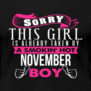 This Girl Is Already Taken By NOVEMBER - Women's Premium T-Shirt