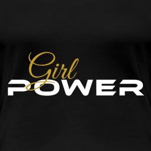 Girl Power weiss gold - Frauen Premium T-Shirt