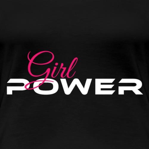 Girl Power weiss pink - Frauen Premium T-Shirt