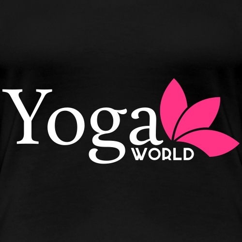 Yoga World 2-färg - Premium-T-shirt dam