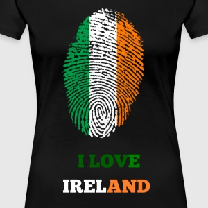 I LOVE IRELAND FINGERABDRUCK - Frauen Premium T-Shirt