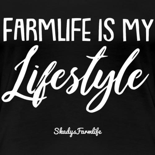 Farmlife is my Lifestyle - Frauen Premium T-Shirt