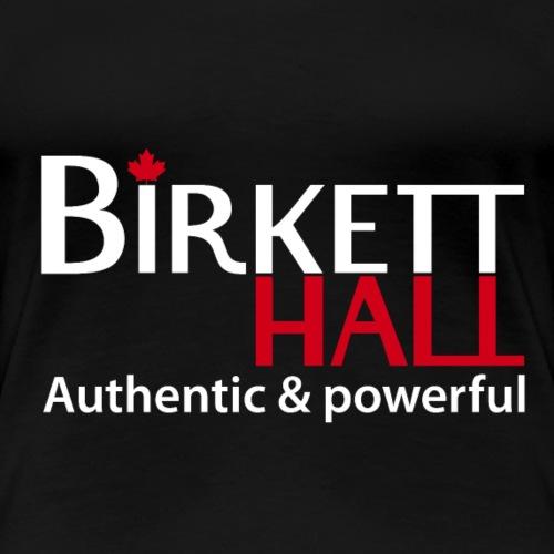 BIRKETT HALL White & Red - Frauen Premium T-Shirt
