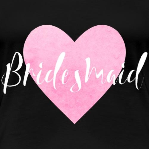 Bridesmaid rosa Herz JGA Junggesellenabschied Hoch - Frauen Premium T-Shirt