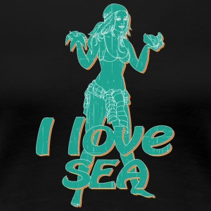 i love see pin up girl vintage - Women's Premium T-Shirt